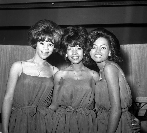 The Northern Echo: Photo dated 10/8/64 of American vocal group The Supremes, (L to R) Florence Ballard, Mary Wilson and Diana Ross, at a reception at EMI House in London during a visit in Great Britain.  Mary Wilson, the longest-reigning original supreme, has