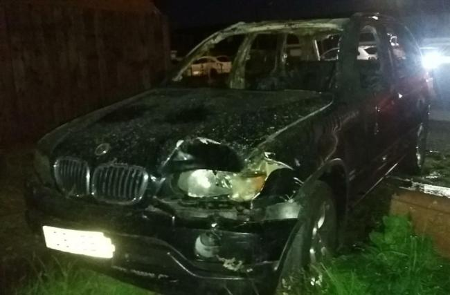 A black 2003 BMW X5, which is believed to have been used in the incident