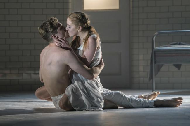 Andrew Monaghan and Seren Williams as Romeo and Juliet. Picture: Johan Persson