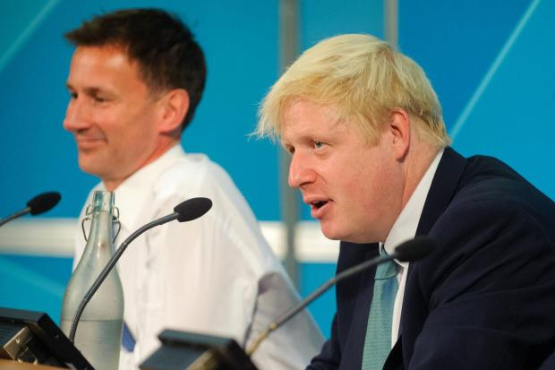 Jeremy Hunt and Boris Johnson, who are contesting the leadership of the Conservative Party