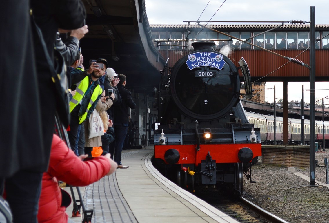 Flying Scotsman in North Yorkshire