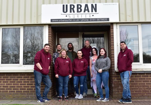 The Northern Echo: Staff at Urban Surfer