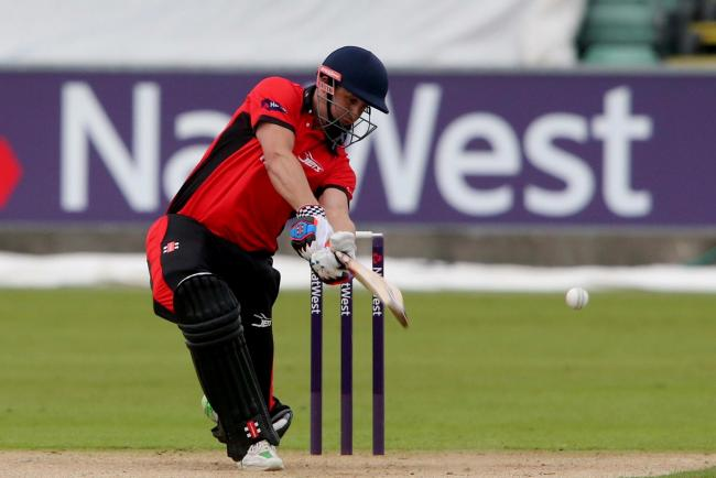 ON THE BALL: Durham Jets batsman Phil Mustard in action against Lancashire Lightning in Chester le Street.. Picture: DAVID WOOD.