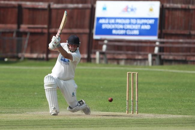 Stephen Ward of Stockton batting during the NYSD Division Two match between Stockton Cricket Club and Bedale at The Grangefield Ground, Stockton on Tees on Saturday 29th June 2019. (Credit: Mark Fletcher | Shutter Press)
