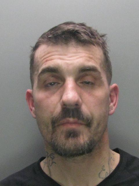Burglar Elroy McArthur, 41, has been jailed for four years after stealing property from a Darlington convent after trying to break-in to a family home. Picture: DURHAM POLICE