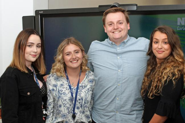 Northumbrian Water apprentices, who have been awarded their degrees from Sunderland University. Pictured, from left, Amber Swift, Emily Tomlinson, Mark Ireland and Olivia Dale.