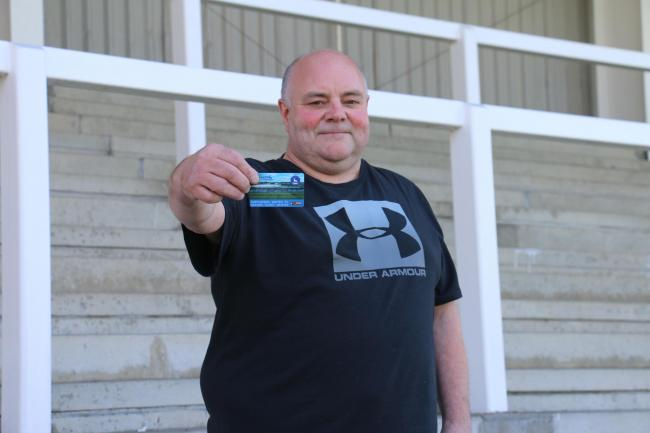 pools Pools fan Les Wilson bought the 2,500th Season Ticket for 2019-20