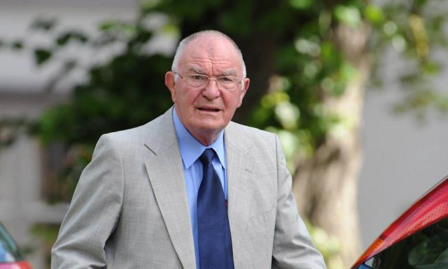 Granville Gibson, ex-Archdeacon of Auckland, arriving at an earlier court hearing last year																																									Picture: NORTH NEWS