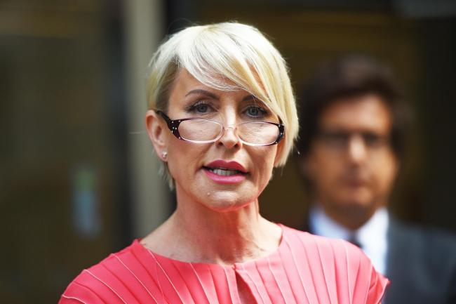 Heather Mills speaks outside the Rolls Building in London after receiving a public apology at the High Court after bringing a phone-hacking claim action against News Group Newspapers. PRESS ASSOCIATION Photo. Picture date: Monday July 8, 2019. See PA stor