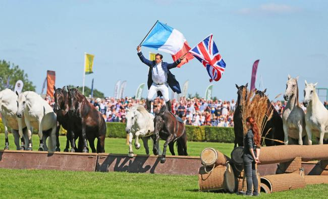 The Flying Frenchman performs at the Great Yorkshire Show in 2018 Picture: SARAH CALDECOTT