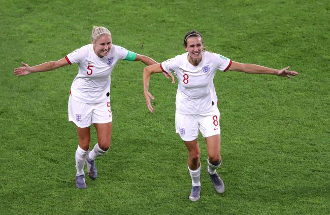 Wearside duo Steph Houghton and Jill Scott celebrate during England's Women's World Cup campaign in France