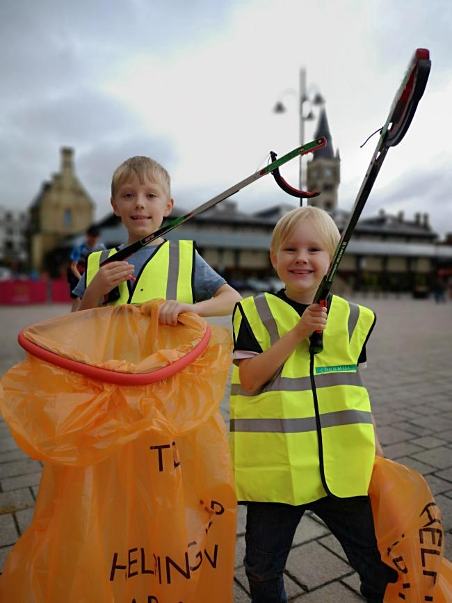 Children are being encouraged to join in a special litter-picking event