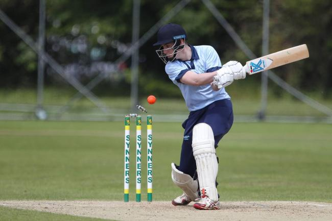 Hartlepool's George Relton is bowled by Seaton's Paul Braithwaite during last weekend's NYSD Premier Division 100s match