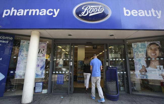 A Boots the Chemist shop. Picture: Philip Toscano/PA Wire