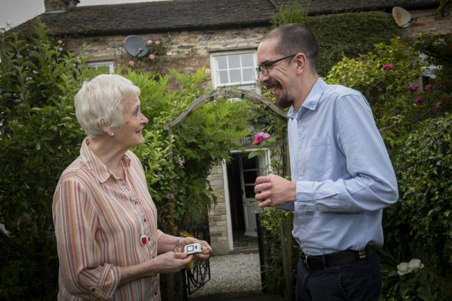 Joan Cresswell of Redmire, pictured with warden Mike Dixon