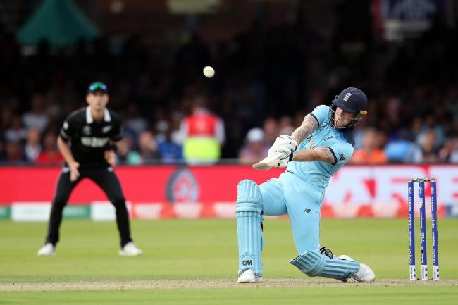 Ben Stokes hits out during the World Cup Final