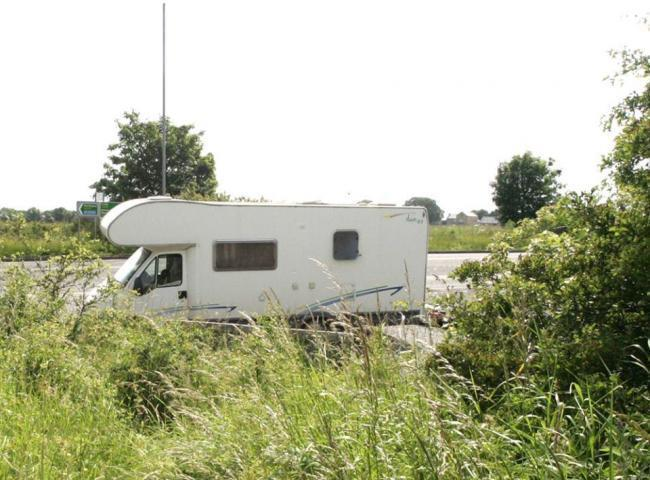 The A689 was closed for 20 hours after the motorhome was stopped by police