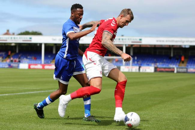 Nicke Kabamba will start up front today for Pools Picture: TOM BANKS