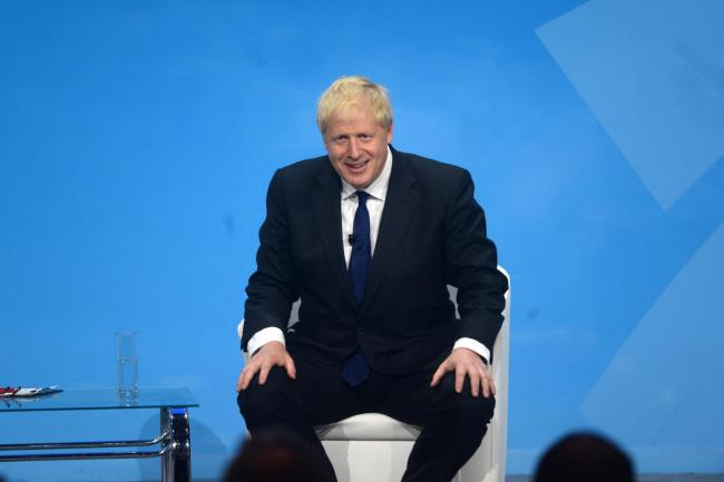 Conservative Party leadership candidate Boris Johnson during a Tory leadership hustings in London. Picture: Kirsty O'Connor/PA Wire