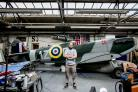 The replica Spitfire was created in memory of Aksel Svendsen, who was shot down and killed during the Second World War, and it being restored do it can go on display again