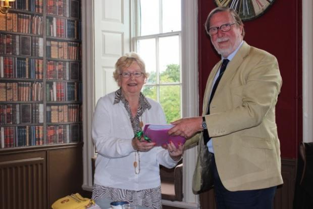 The Northern Echo: Sir Mark Anthony Havelock Allan QC presents the Parkland Heritage Network study to Cllr Heather Scott