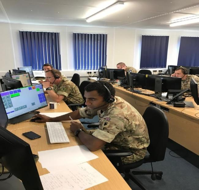 North Yorkshire Police Control Room staff welcomed officers and soldiers of the 2nd Battalion The Yorkshire Regiment (2 YORKS) from Catterick Garrison