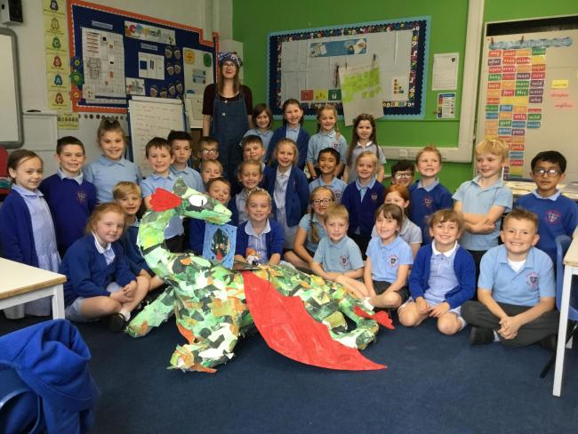 Author Jen Campbell visited Holy Family School to share some of the topic work Year 2 have completed in class this half-term