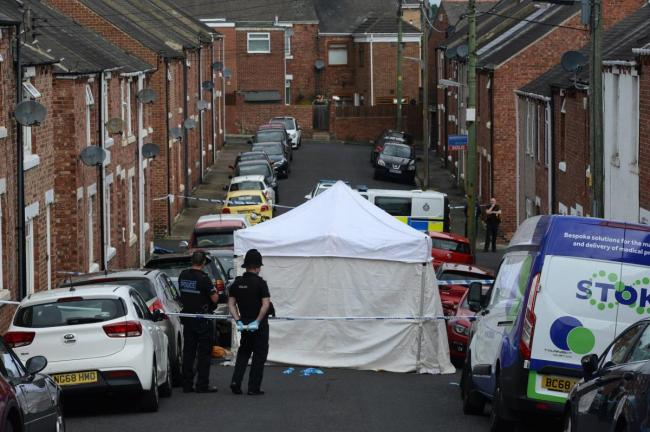 Melville Street, Chester-le-Street, following the incident Picture: NNP