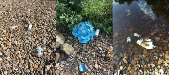 Litter left at Broken Scar. Pictures: Brian Hope