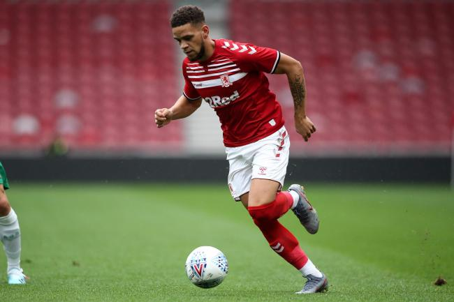 Marcus Browne in full flow at the Riverside for Middlesbrough