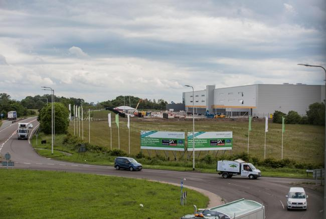 The new Amazon logistics centre will sit beside Darlington's ring road, at Lingfield Point