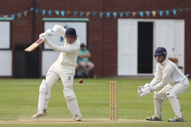 Joe Hewsion of Stockton batting during the NYSD Division Two match between Stockton Cricket Club and Bedale at The Grangefield Ground last weekend. Picture: MARK FLETCHER