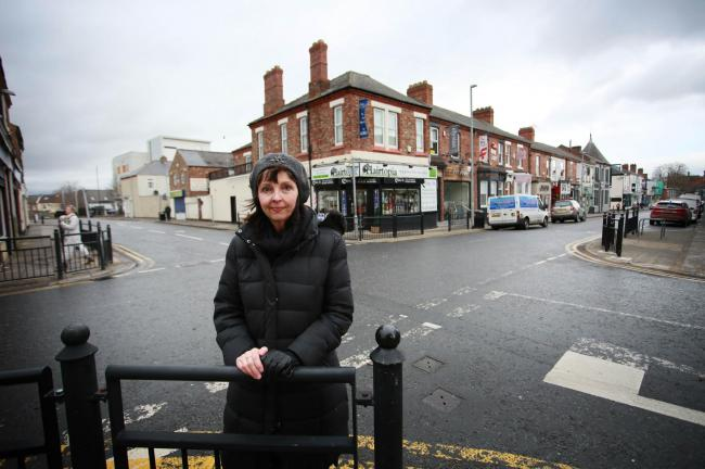 Cllr Cyndi Hughes is campaigning to raise awareness of dangerous junction between Duke Street and Larchfield Street				             Picture: SARAH CALDECOTT