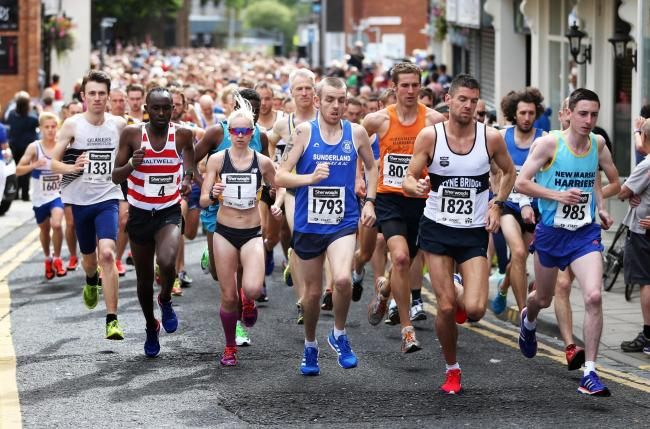 Runners taking part in a previous Darlington 10km