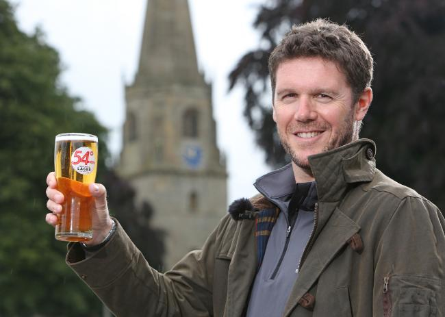 Rob Theakston with 54 Degrees North, a medal winner at the International Beer Challenge