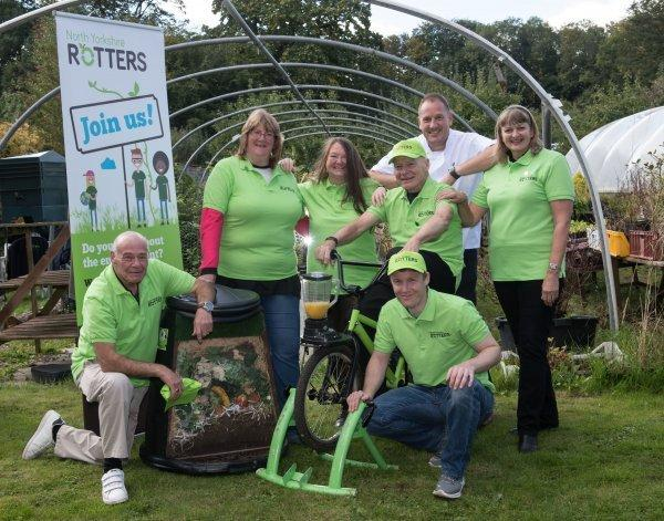 Members of North Yorkshire's Rotters team, which aims to change waste habits and has recently doubled in size