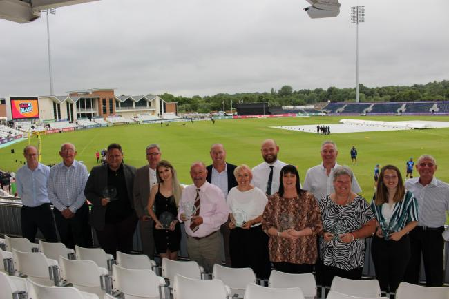 The 2019 OSCA winners, who are dedicated to grassroots cricket across County Durham