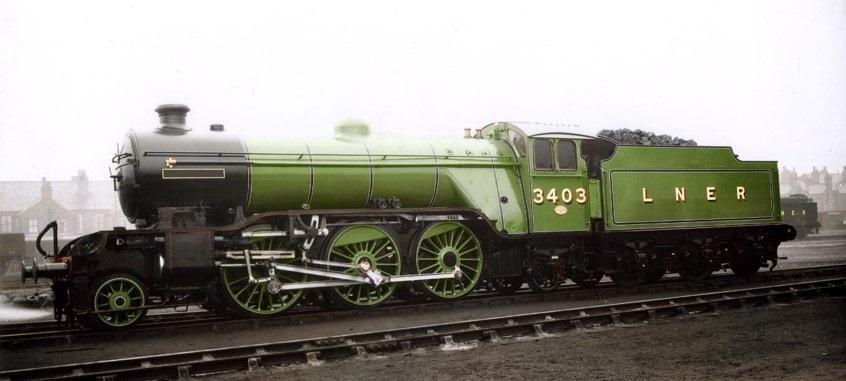 First parts for Darlington's new loco – a Gresley class V4 No  3403