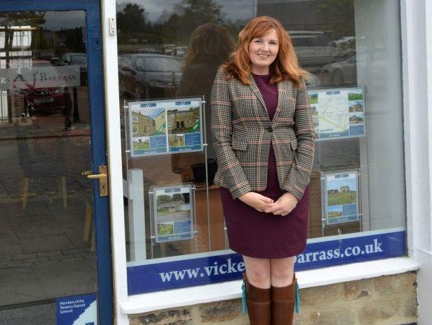 Vickers & Barrass' Charlotte Burnett who has helped raise more than £2000 for local charities