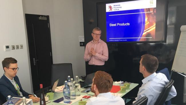 David Egner delivers the training programme to the team at UK Steel