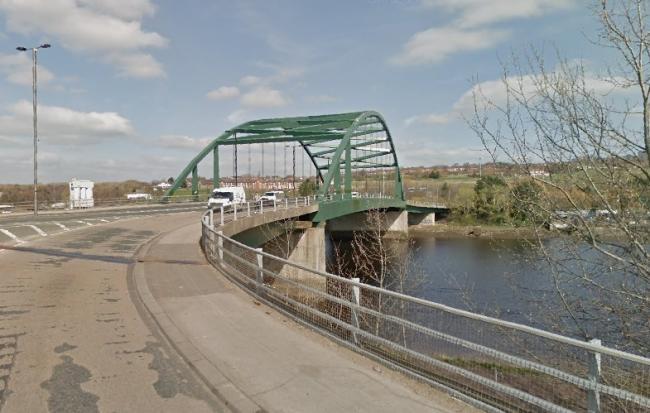 The car went into the River Tyne near the Scotswood Bridge