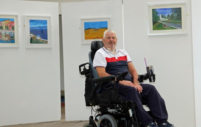 Kenneth Longstaff, who is staging his first art exhibition