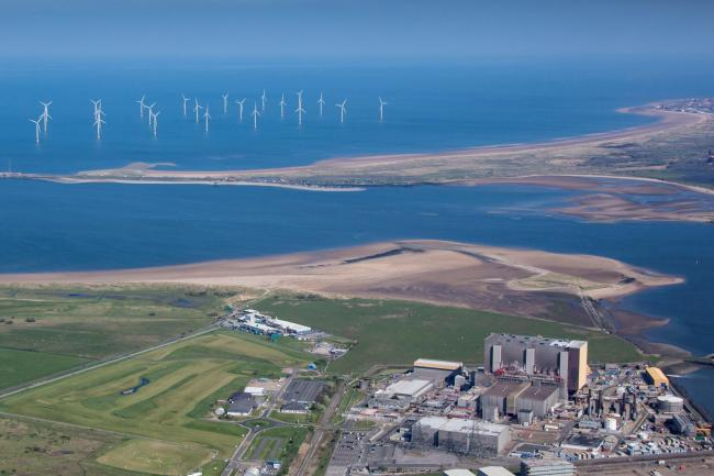 Aerial view of Hartlepool power station