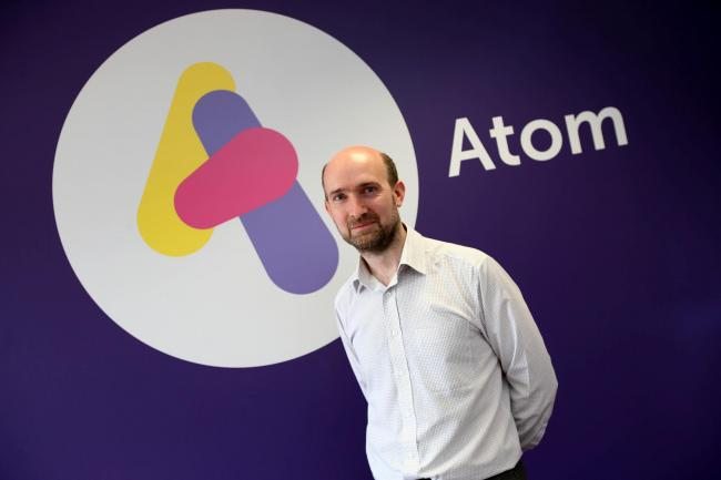 Edward Twiddy, from Atom Bank  Picture: TOM BANKS.