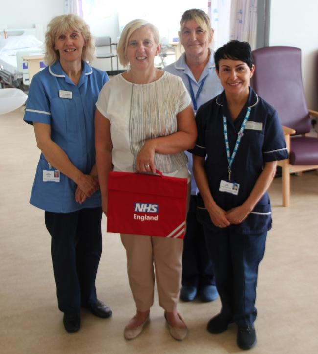 red bags plus discharge staff & Carol Jones manager lindisfarne care home