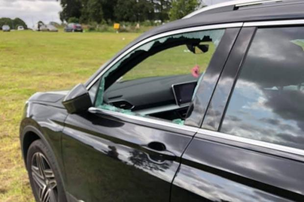 Cars were damaged at the festival Picture: Incidents on Teesside & County Durham