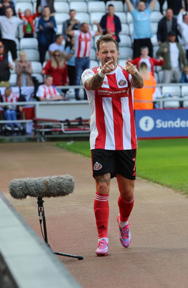 Chris Maguire celebrates scoring on Saturday