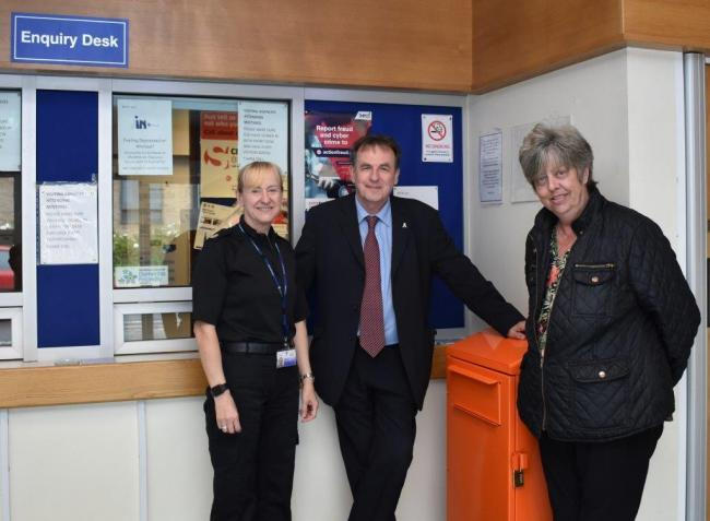 Superintendent Wendy Tinkler, left, PCC Barry Coppinger and Theresa Cave