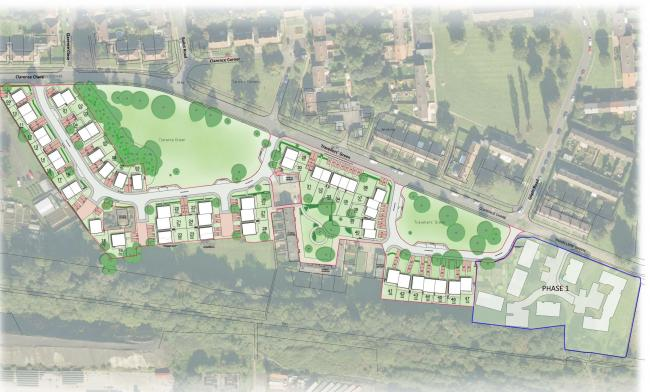 An artist's impression showing the proposals at the Newton Aycliffe site