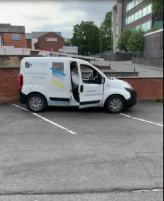Parking officer filmed using the MyFirmsApp car park to monitor Barker and Stonehouse